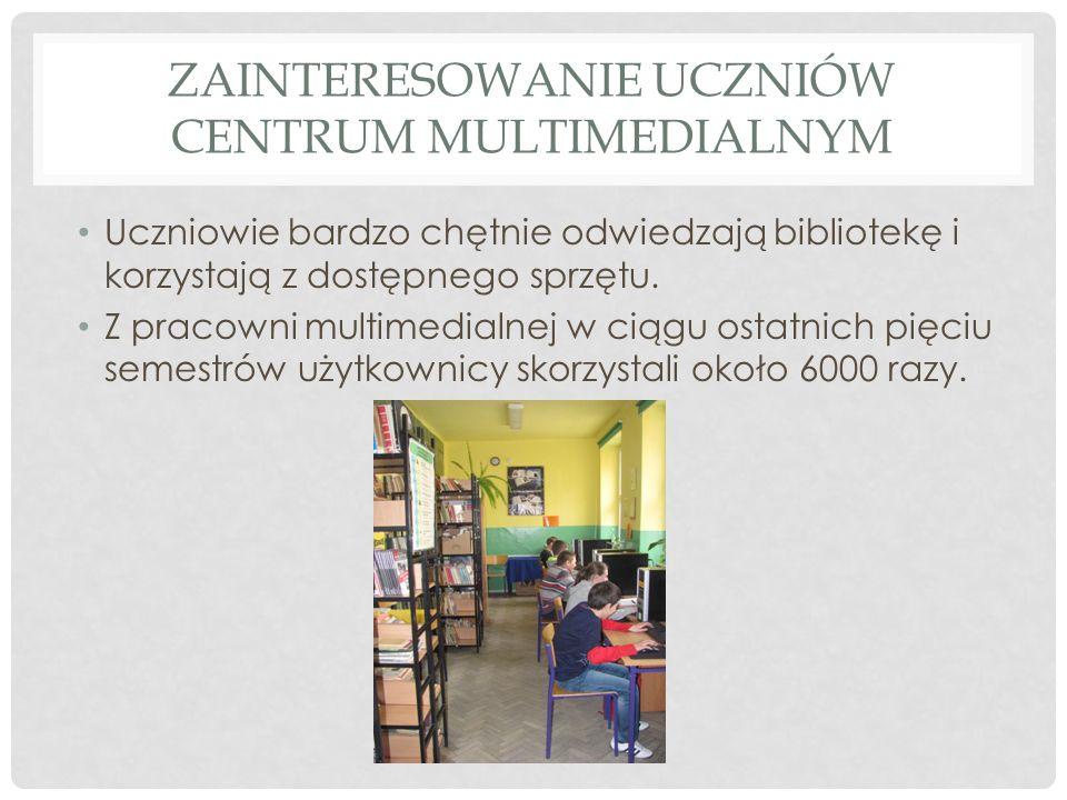 Zainteresowanie uczniów Centrum multimedialnym