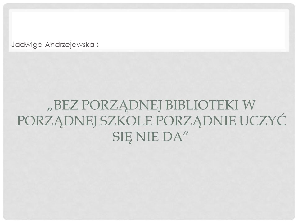 Jadwiga Andrzejewska :