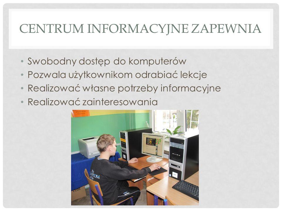 Centrum informacyjne zapewnia