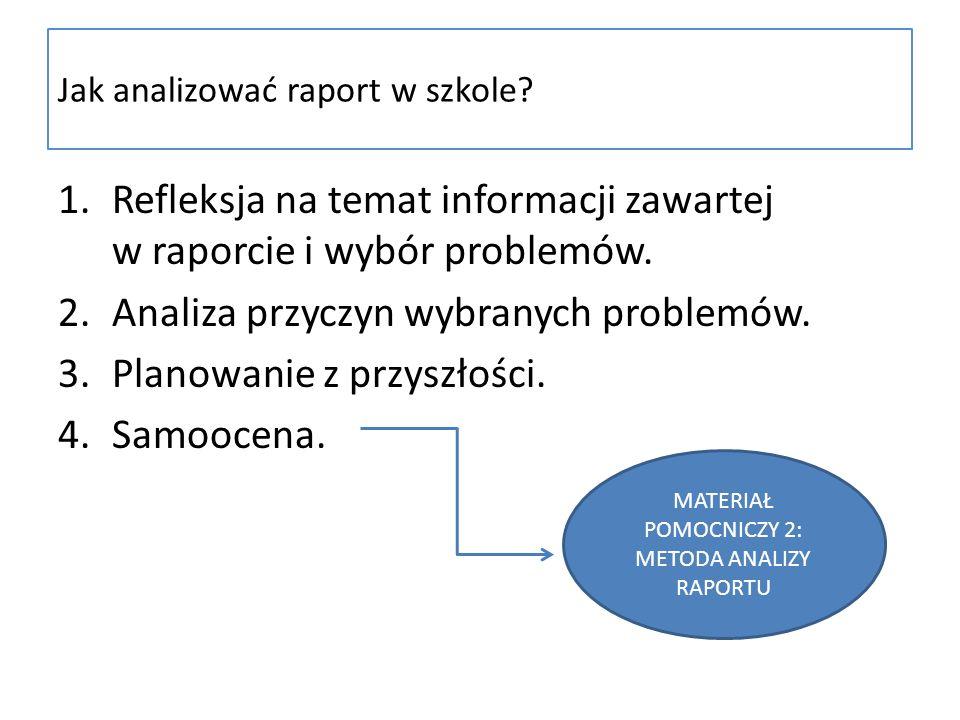 Jak analizować raport w szkole