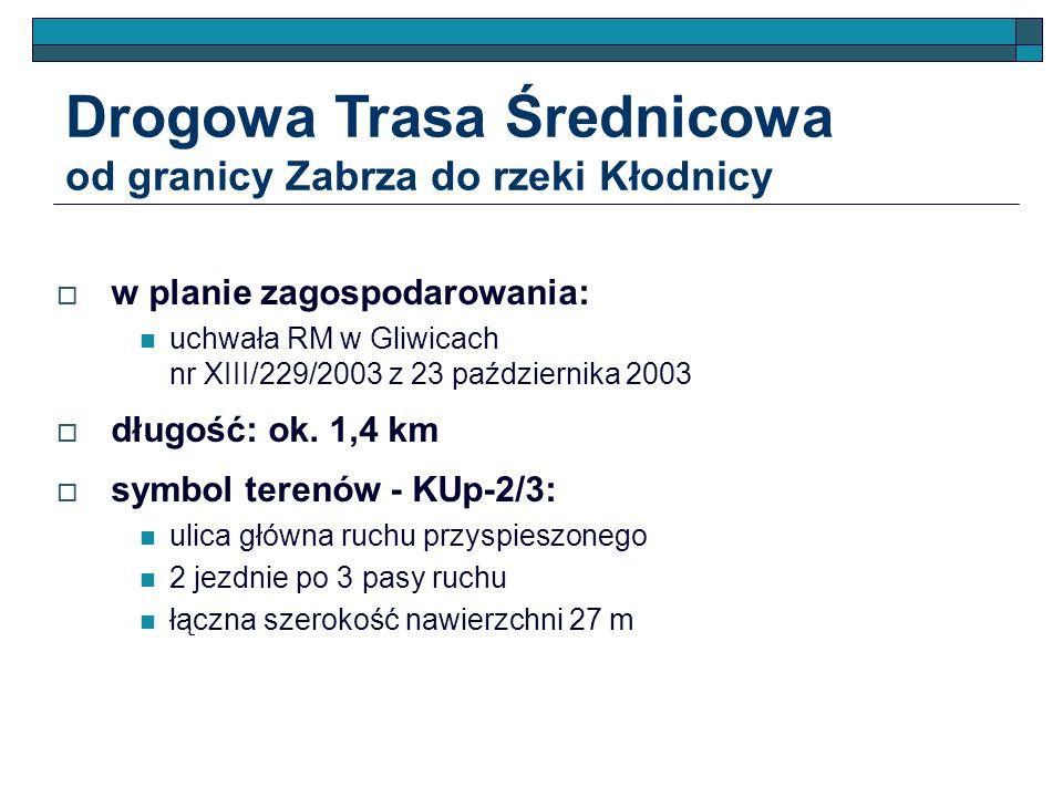 Drogowa Trasa Średnicowa od granicy Zabrza do rzeki Kłodnicy