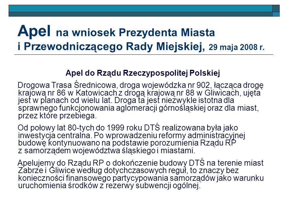Apel do Rządu Rzeczypospolitej Polskiej
