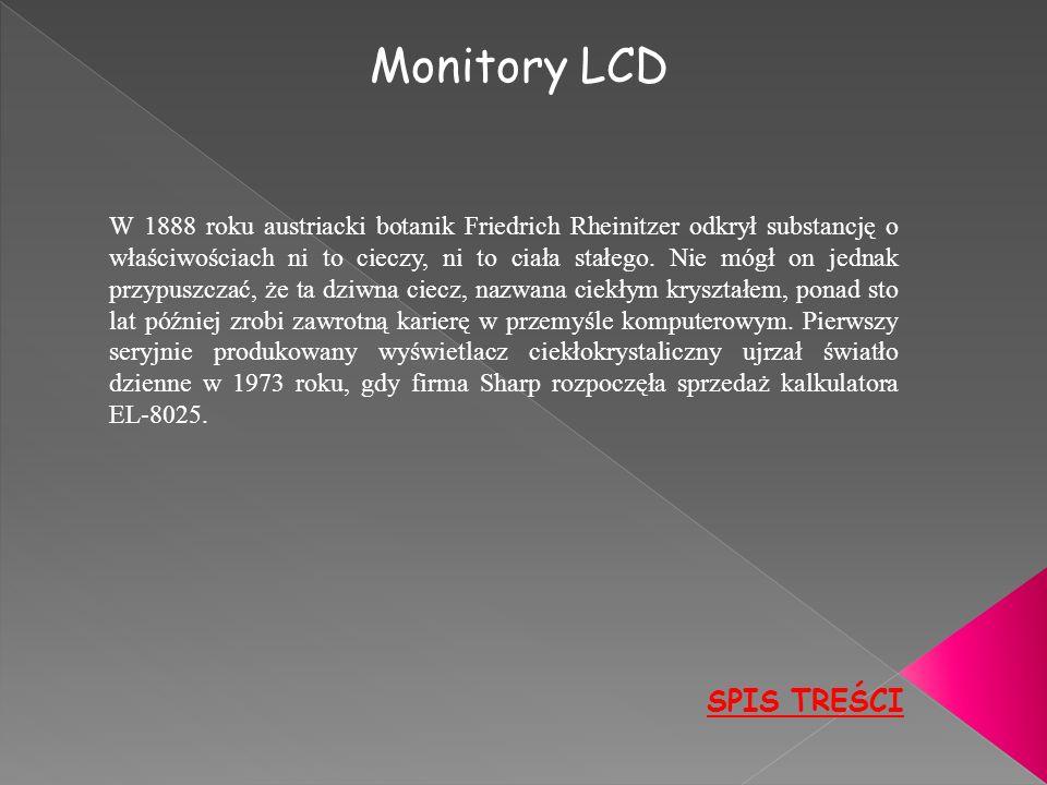 Monitory LCD SPIS TREŚCI