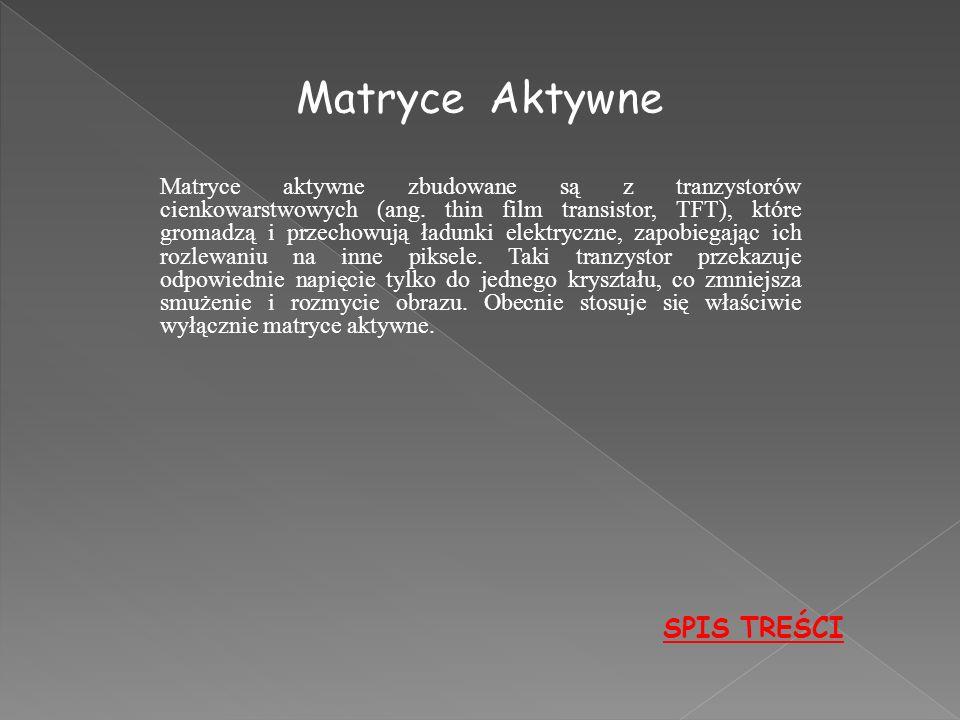 Matryce Aktywne SPIS TREŚCI