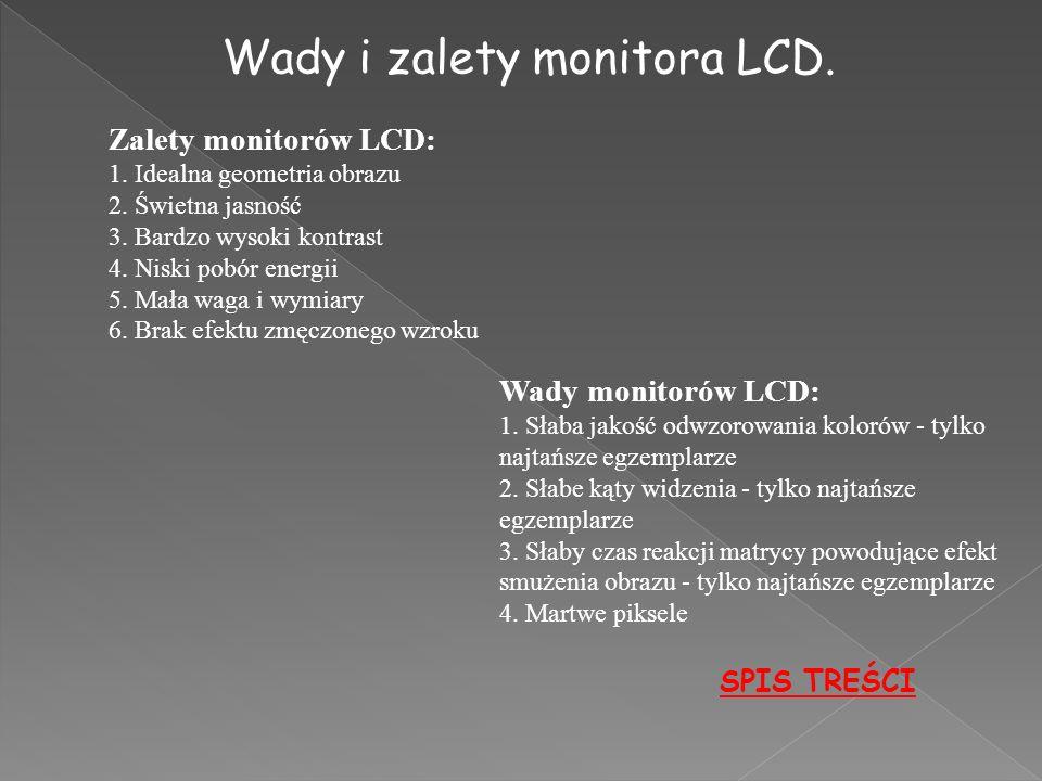 Wady i zalety monitora LCD.