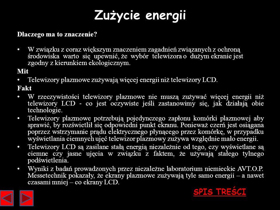 Zużycie energii SPIS TREŚCI Dlaczego ma to znaczenie