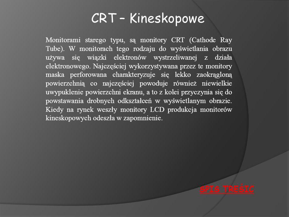 CRT – Kineskopowe SPIS TREŚIC