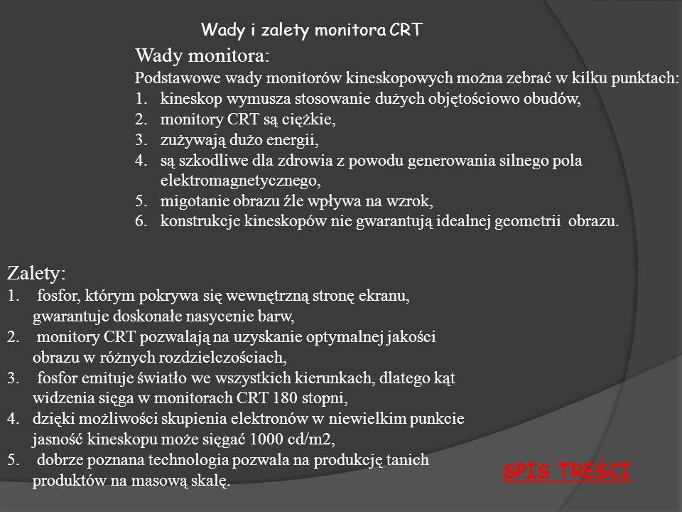 Wady i zalety monitora CRT