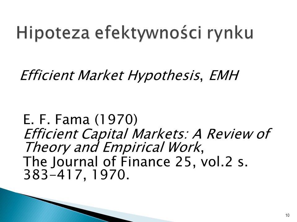 Hipoteza efektywności rynku