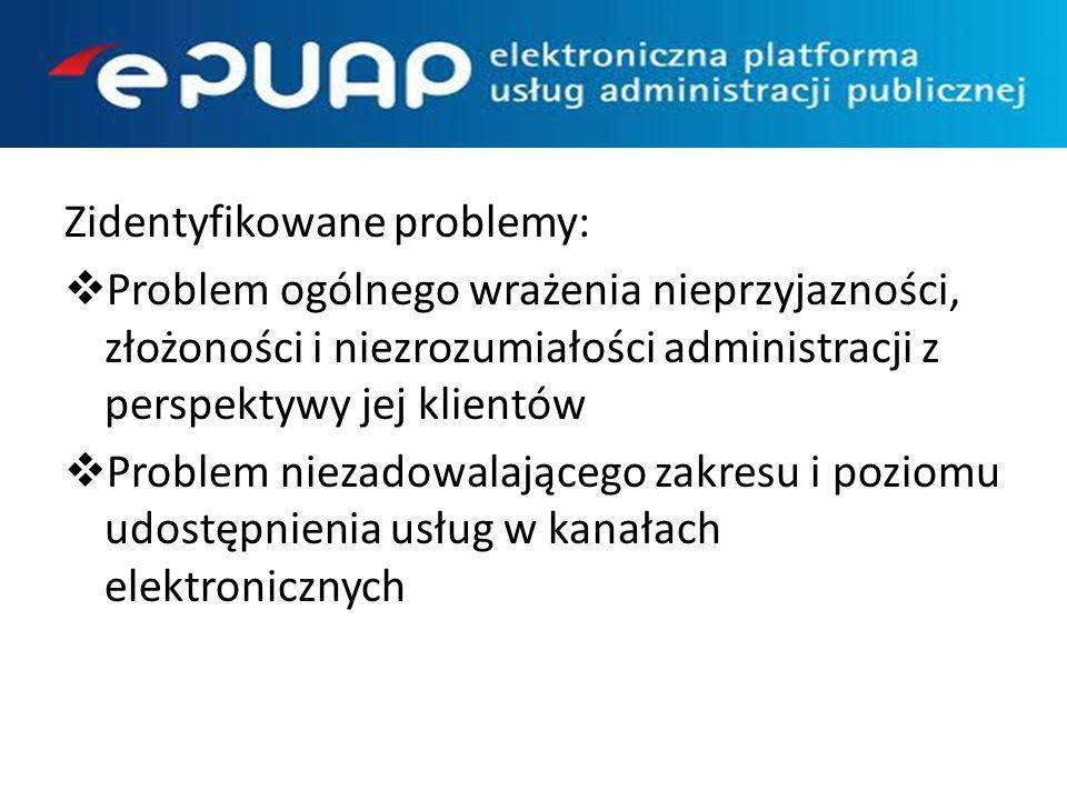 Zidentyfikowane problemy:
