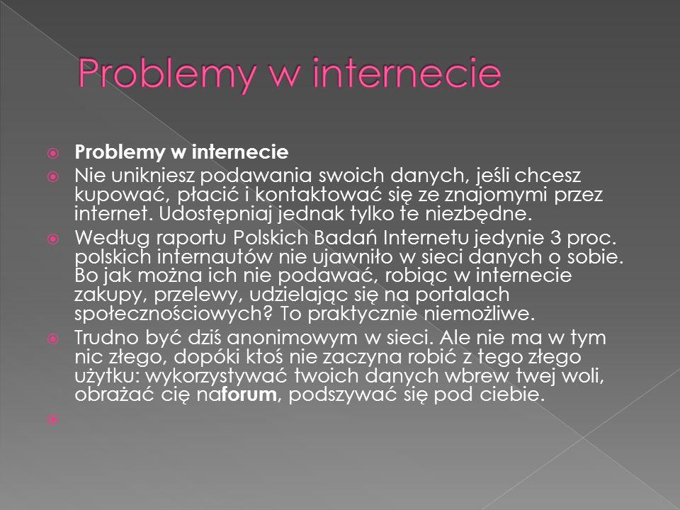 Problemy w internecie Problemy w internecie