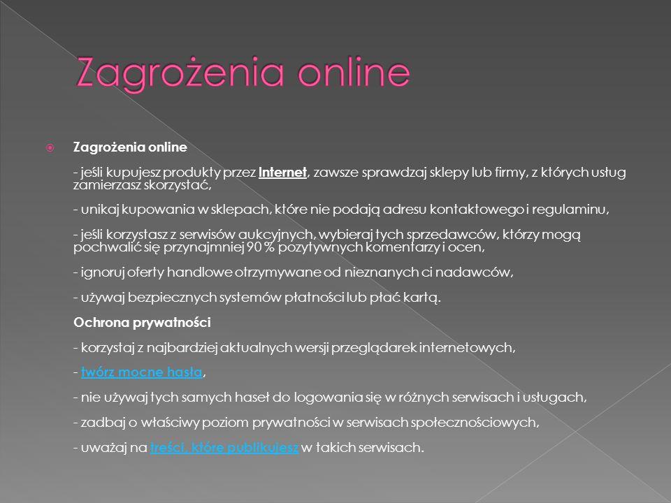 Zagrożenia online