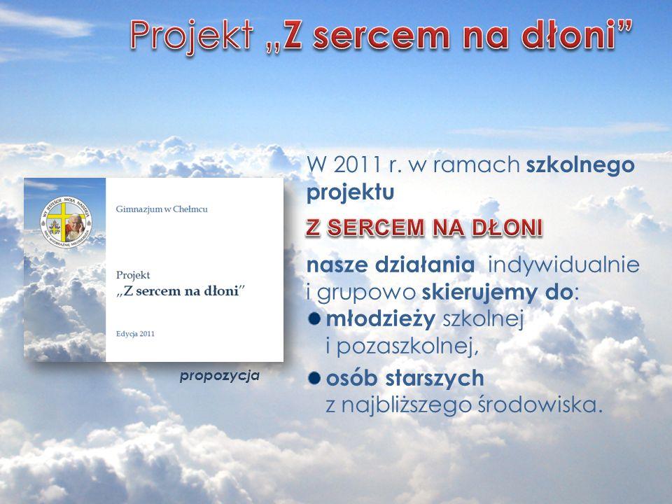 "Projekt ""Z sercem na dłoni"