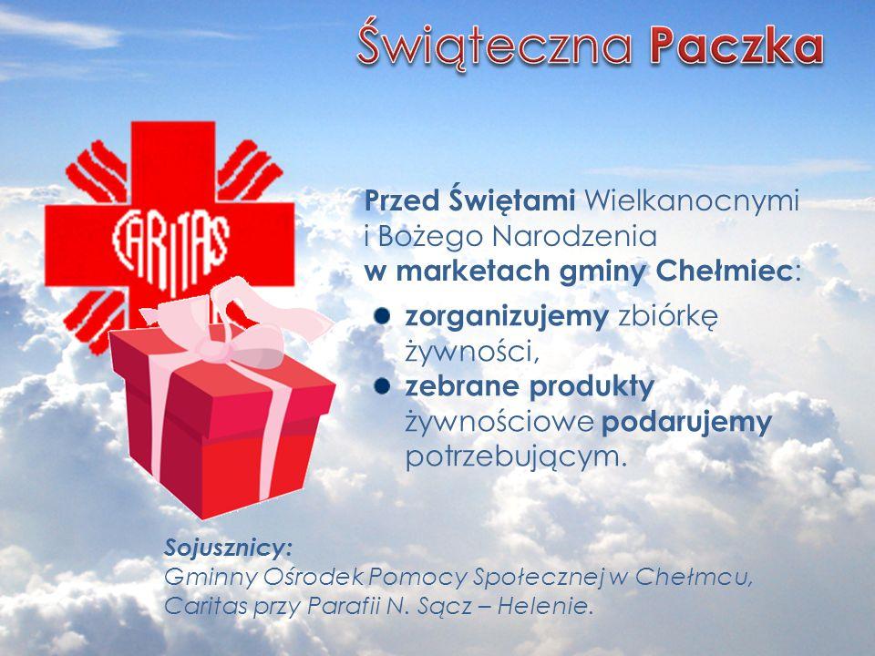 Świąteczna Paczka Przed Świętami Wielkanocnymi i Bożego Narodzenia w marketach gminy Chełmiec: zorganizujemy zbiórkę żywności,