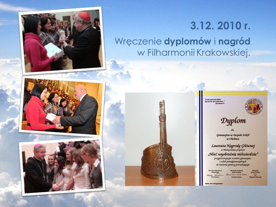 Wręczenie dyplomów i nagród w Filharmonii Krakowskiej.