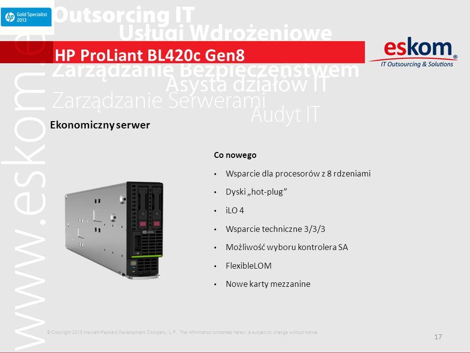 HP ProLiant BL420c Gen8 Ekonomiczny serwer Co nowego