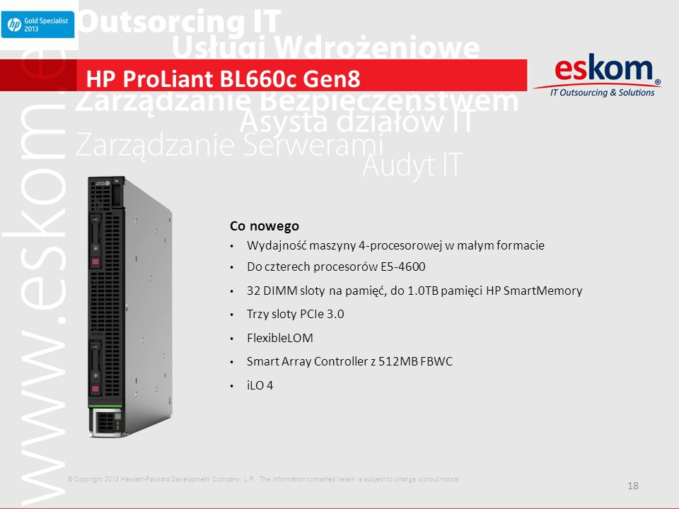 HP ProLiant BL660c Gen8 Co nowego