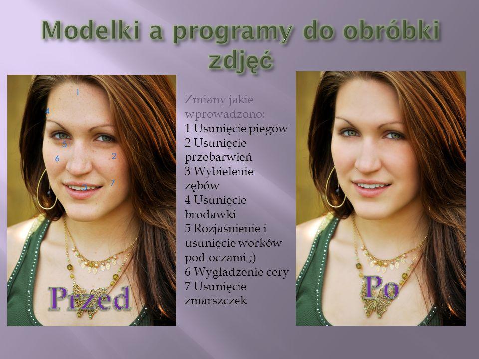 Modelki a programy do obróbki zdjęć
