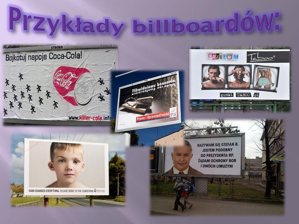Przykłady billboardów: