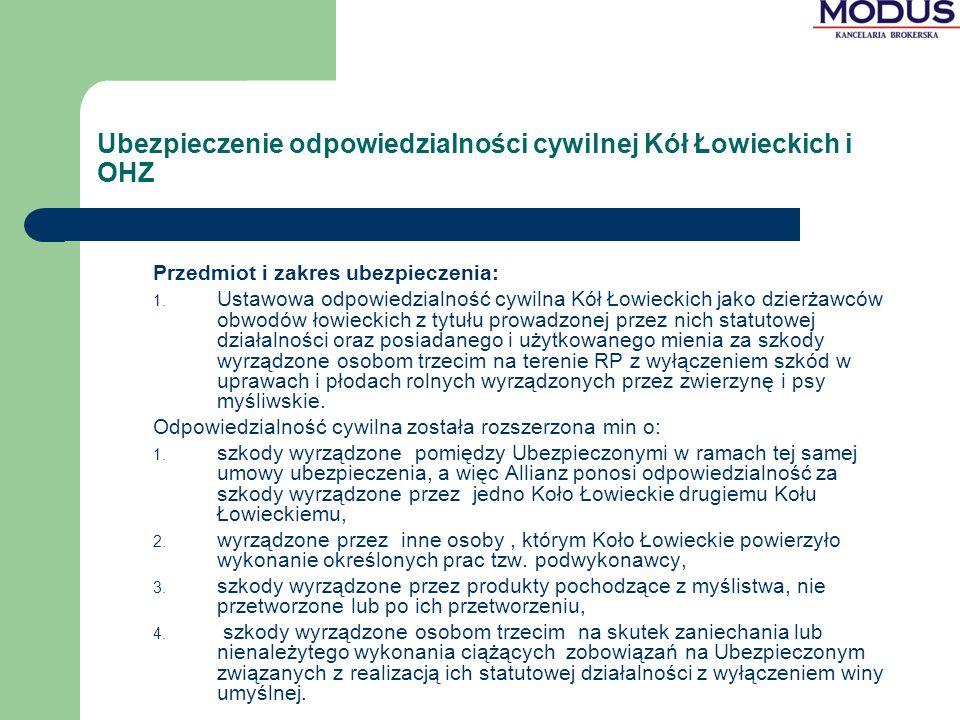 Ubezpieczenie odpowiedzialności cywilnej Kół Łowieckich i OHZ