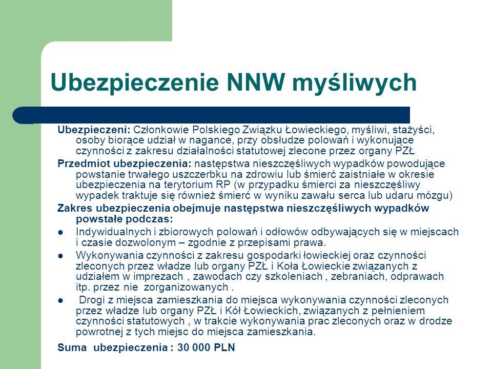 Ubezpieczenie NNW myśliwych