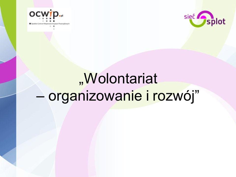 """""""Wolontariat – organizowanie i rozwój"""