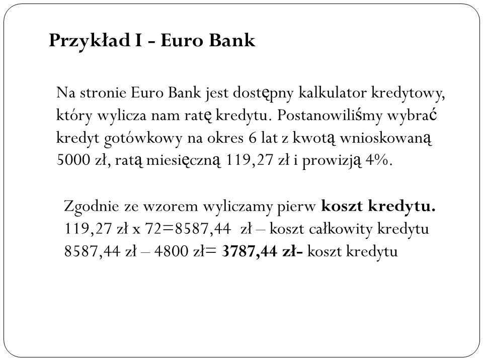 Przykład I - Euro Bank