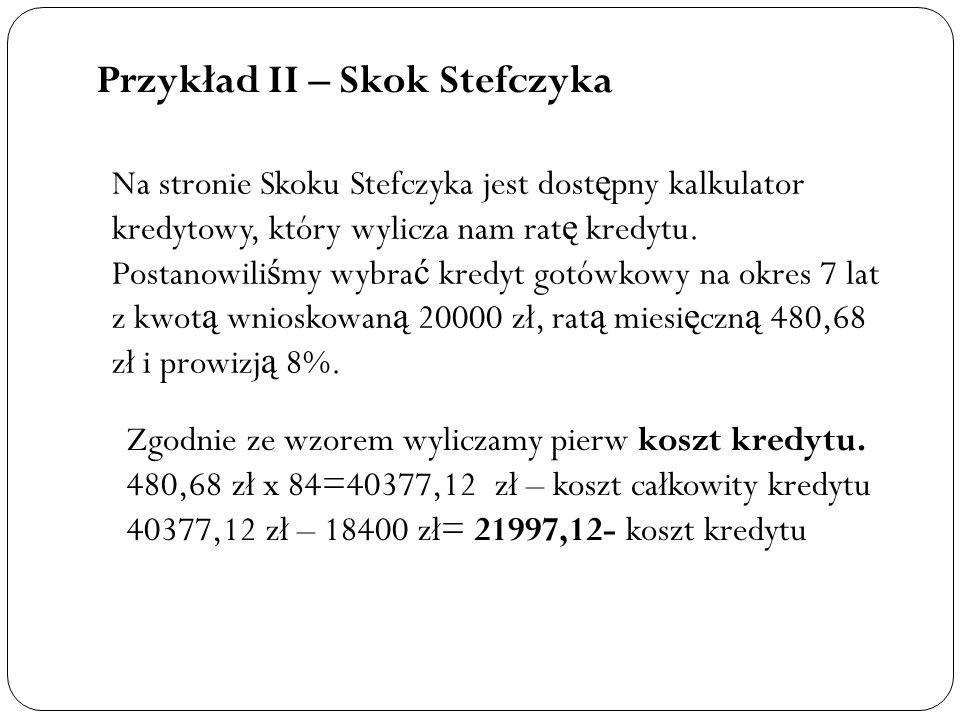 Przykład II – Skok Stefczyka