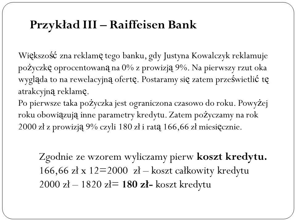Przykład III – Raiffeisen Bank