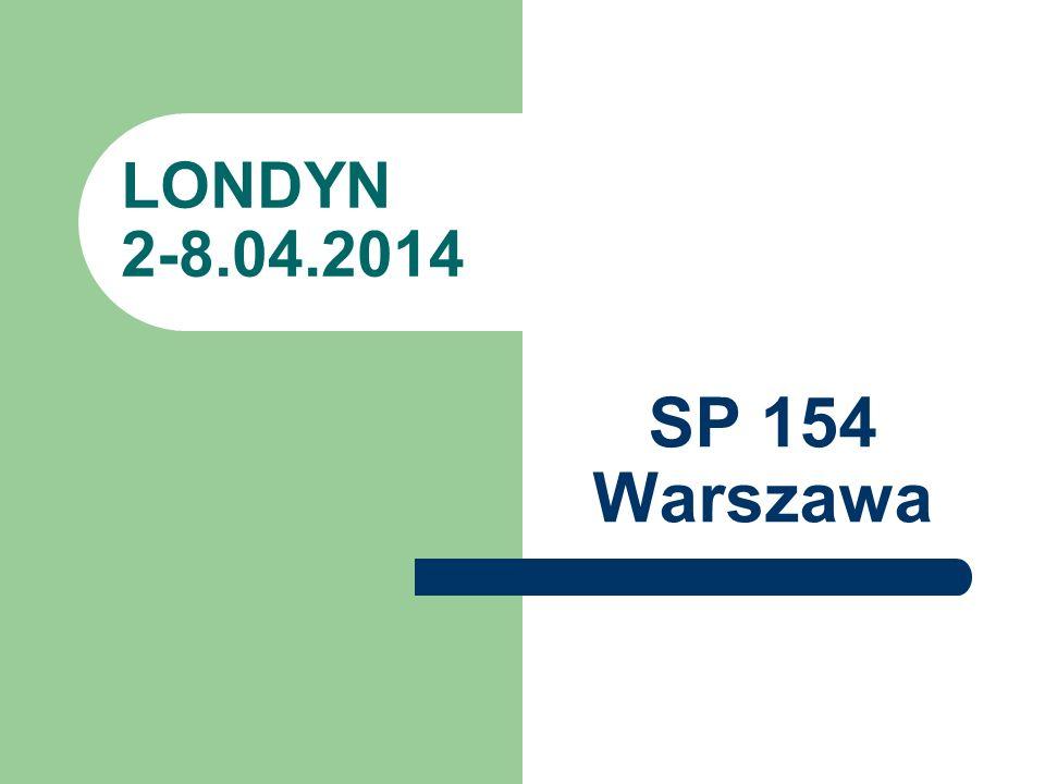 LONDYN 2-8.04.2014 SP 154 Warszawa