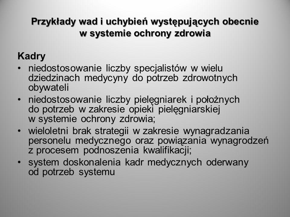 system doskonalenia kadr medycznych oderwany od potrzeb systemu
