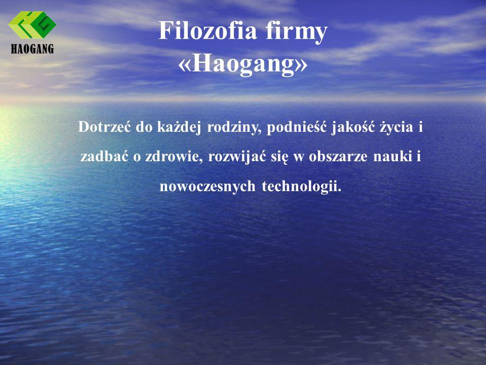 Filozofia firmy «Haogang»