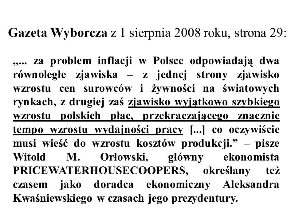 Gazeta Wyborcza z 1 sierpnia 2008 roku, strona 29: