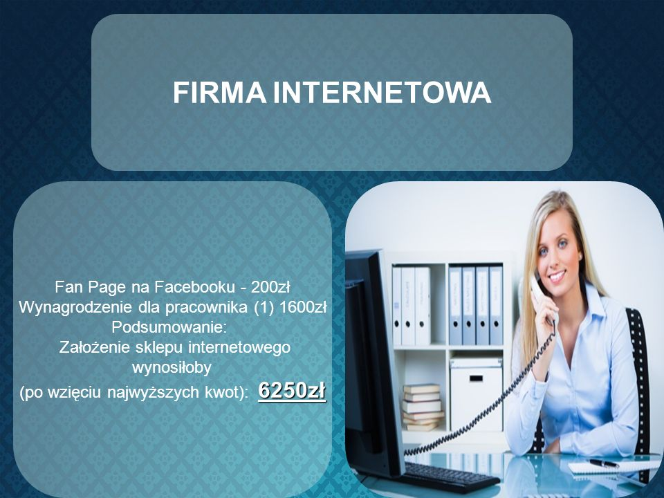 FIRMA INTERNETOWA Fan Page na Facebooku - 200zł