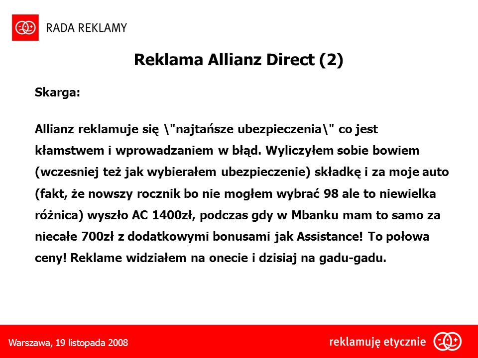 Reklama Allianz Direct (2)