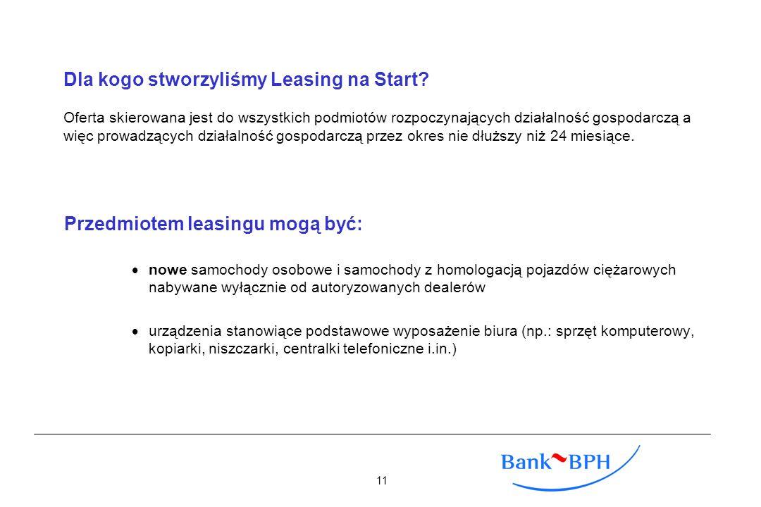Przedmiotem leasingu mogą być: