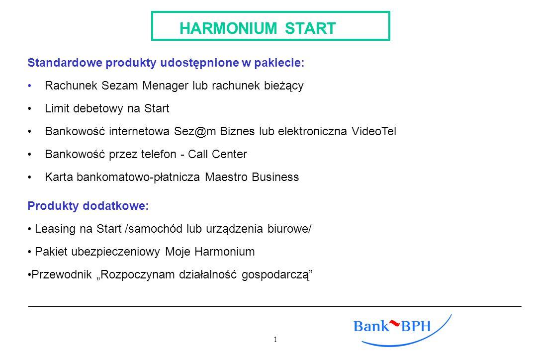 HARMONIUM START Standardowe produkty udostępnione w pakiecie: