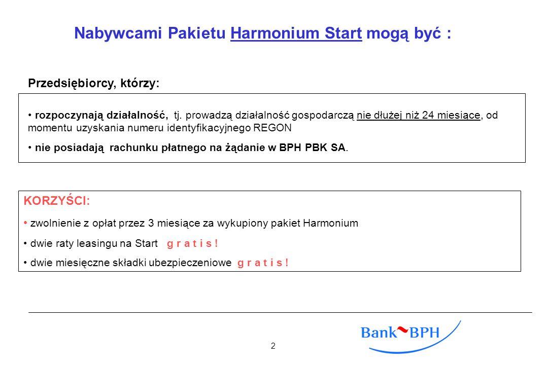 Nabywcami Pakietu Harmonium Start mogą być :