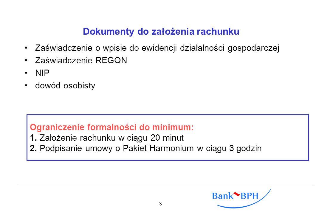Dokumenty do założenia rachunku