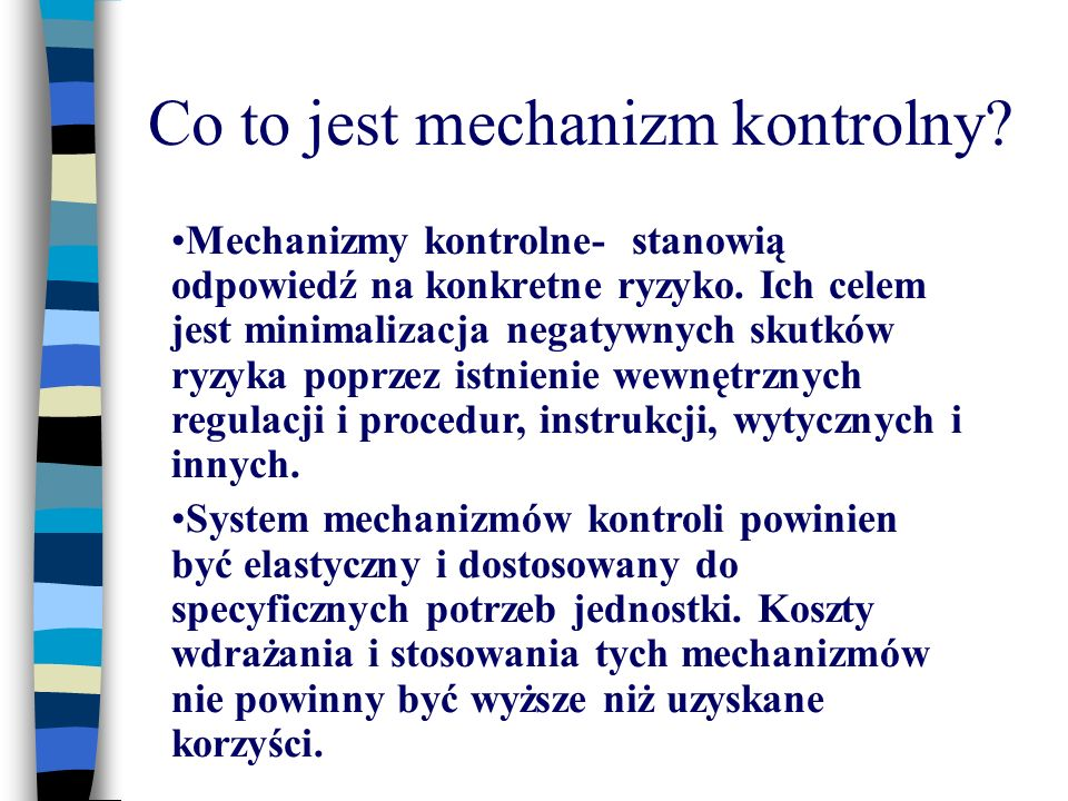 Co to jest mechanizm kontrolny