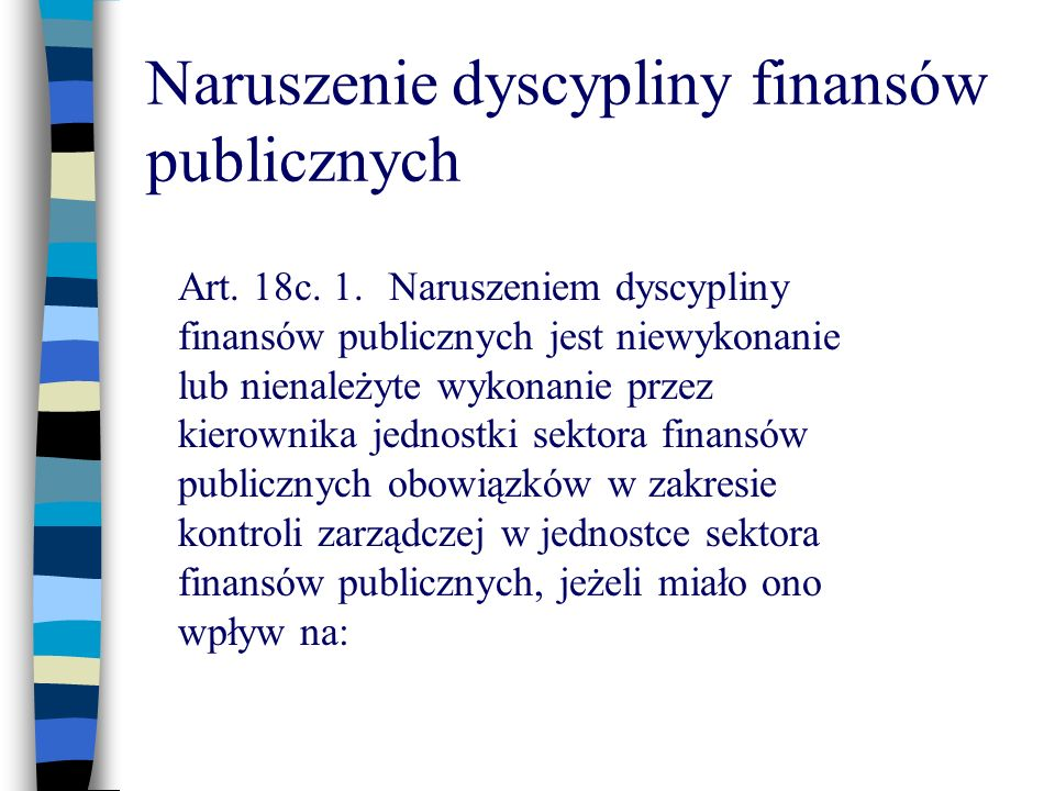 Naruszenie dyscypliny finansów publicznych