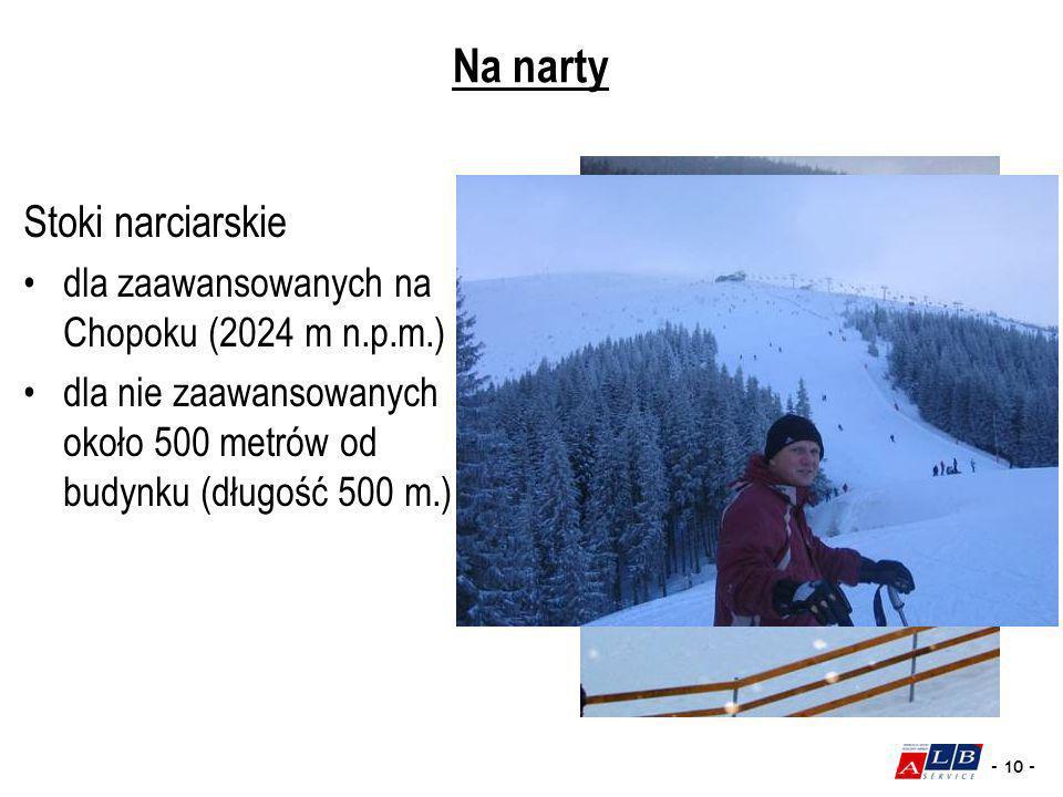 Na narty Stoki narciarskie