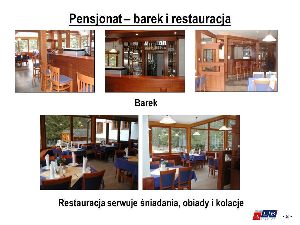 Pensjonat – barek i restauracja
