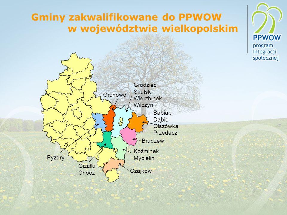 Gminy zakwalifikowane do PPWOW w województwie wielkopolskim