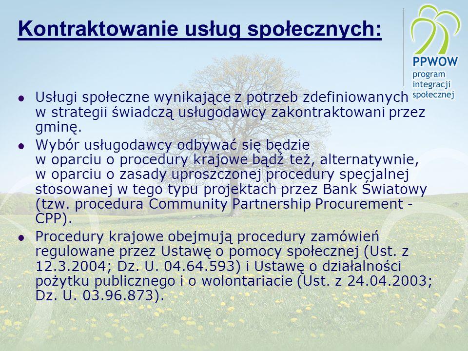 Kontraktowanie usług społecznych: