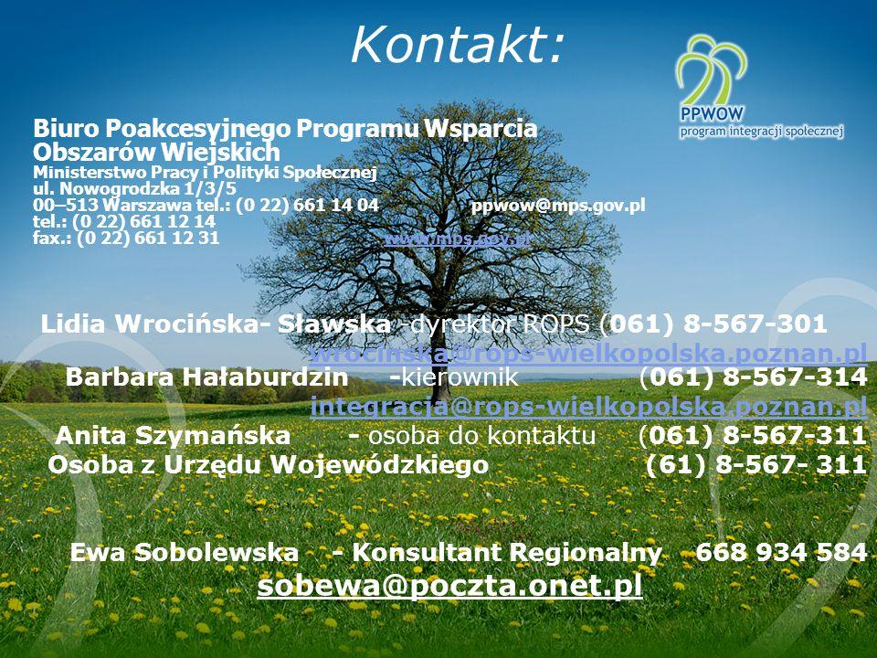 Kontakt: sobewa@poczta.onet.pl