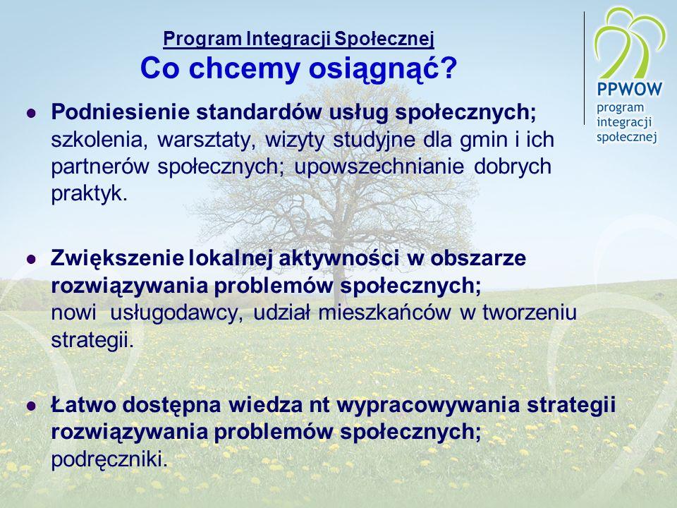 Program Integracji Społecznej Co chcemy osiągnąć