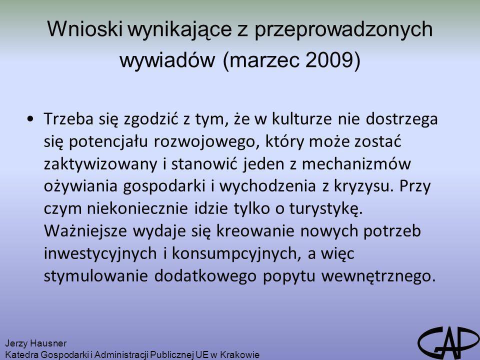 Wnioski wynikające z przeprowadzonych wywiadów (marzec 2009)