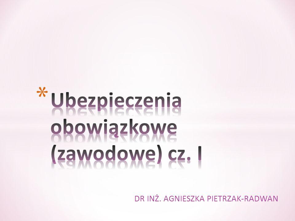 Ubezpieczenia obowiązkowe (zawodowe) cz. I