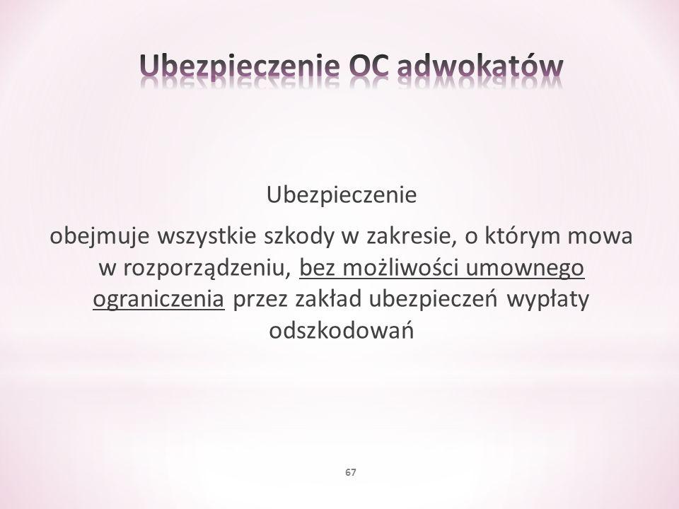 Ubezpieczenie OC adwokatów